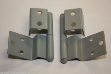 Reimo Style Furniture Hinge (Pair) - Mid Grey